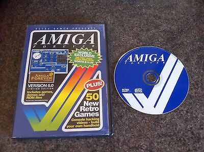 Amiga Forever Version 6.0 Limited Edition CD with 50 New Retro Games Boxed