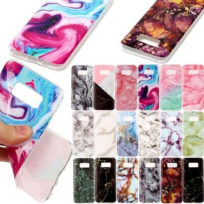 Ultra Slim Marble Soft TPU Silicone Back Case Cover For Samsung Huawei iPhone