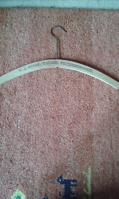 Vintage wooden clothes hanger H J Odom Peterborough advertising
