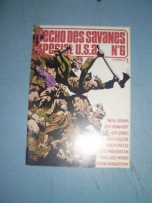 Echo des Savanes Special USA issue 6 Adams Wood Wrightson Steranko french comics