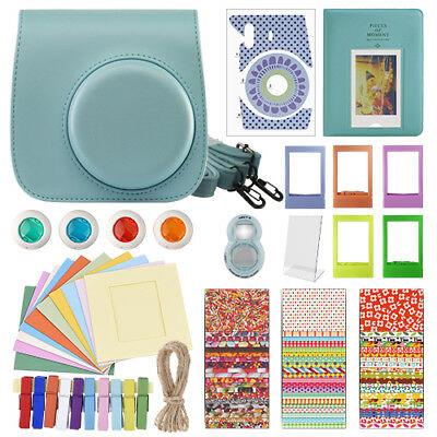 Deluxe Stylish Fun Accessory Kit for Fujifilm Instax Mini 8 Camera Blue