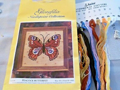 "Glorafilia Tapestry kit  ""Peacock Butterfly"" GL818  started"