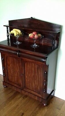 Antique Regency mahogany Chiffonier/Sideboard  3' Wide - Drinks cabinet/Bookcase