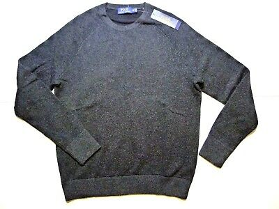 NWT $225 Polo Ralph Lauren Men's Merino Wool Charcoal Sweater Size M