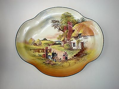 Royal Doulton Rustic England Series Ware Oval Scalloped Bowl D.5694 c:1938