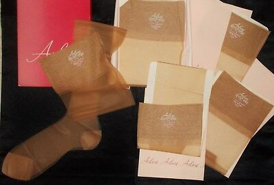Vintage  Arlure Stockings 6 pairs  sz.11 L x 35 1/2  Reinforced Heels and Toes