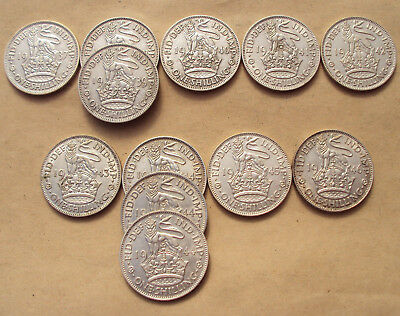 George VI silver Shillings - choice of dates