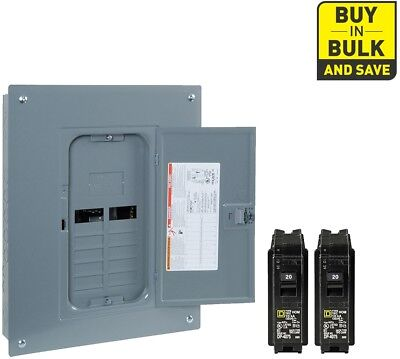 Square D 125-Amp 12-Space 24-Circuit Indoor Home Main Breaker Load Panel Box