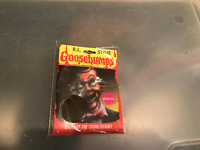 "Goosebumps ""Night of the Living Dummy"" hologram necklace MIP"