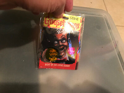 "Goosebumps ""Night of the Living Dummy"" hologram Key Chain MIP"