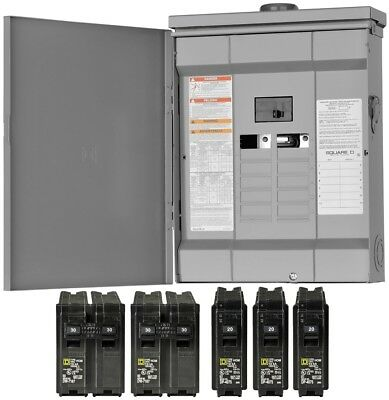 Square D 125 Amp 24-Circuit 12-Space Main Breaker Load Center Panel Outdoor