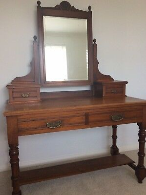 Victorian Dressing Table, Antique Dressing Table, Old Bedroom Furniture