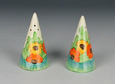 Clarice Cliff Trallee Salt and Pepper Pots.