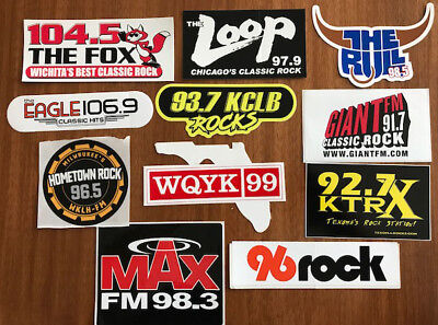 Radio Station Sticker Decal Set Assortment of 11 New