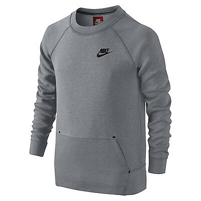 Nike Tech Fleece Big Kids' (Boys') Pullover Crew Sweatshirt Top