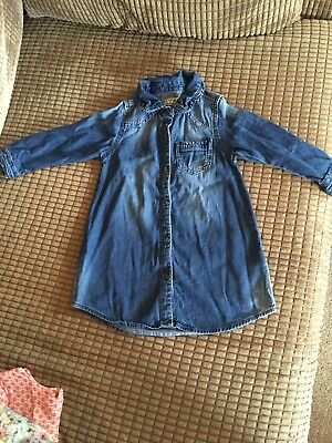 Next Girls Denim Shirt Dress Age 18-24 Months  1.5-2 years