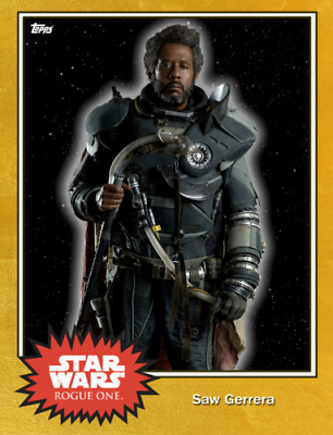 Topps Star Wars Card Trader Saw Gerrera GOLD Series 4 [Digital Card] 100cc
