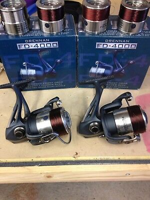 Feeder Fishing Drennan fd 4000 Reels Used Twice, Boxed, Excellent Condition