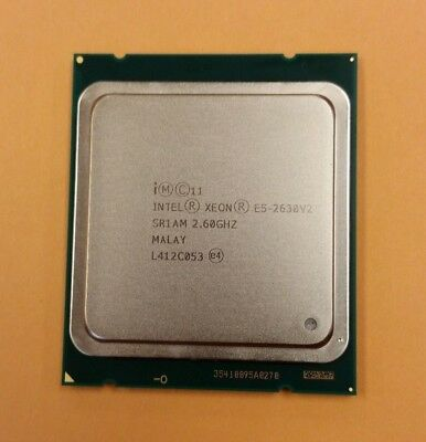 XEON INTEL E5-2630 V2 SR1AM  2.6GHz  15MB 7.2GT/s SIX CORE LGA2011 TESTED TESTED