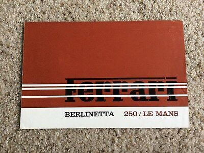 1960s ferrari   250/Le Mans,  original factory printed race car sales handout
