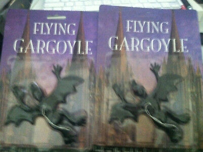 Gargoyles  Flying Lot of 2 MIP Decorations Hanging Accoutrements