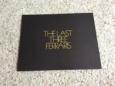 1970s ferrari dealer printed original color sales folder