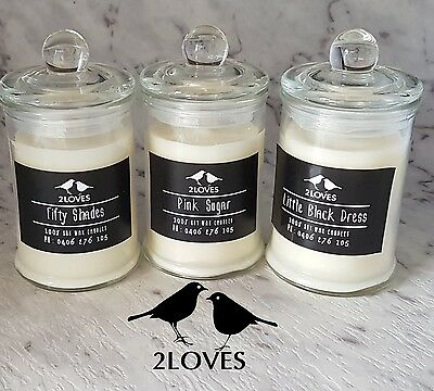 Soy Wax Candle - Maximum Fragrance- 30Hours Burn - Free Post