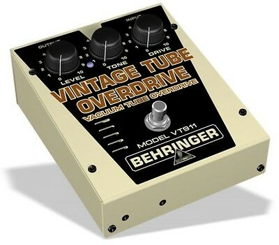 Behringer VT911 - Classic Vacuum Tube Overdrive Effects Pedal - NEW!