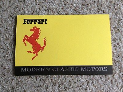 1970s ferrari of Reno nevada motern classic motors dealer printed brouchure