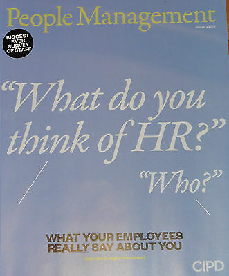 *new* People Management Hr Magazine Jan 2016 What Employees Think Of Hr