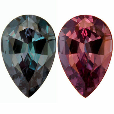 Alexandrite Russian Lab Color Change  11 x 8 mm pear 2.78 carats