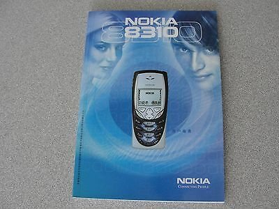 Manual for NOKIA 8310 Cellular Phone, in English and Chinese, Mint Condition