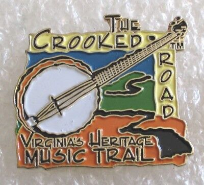 The Crooked Road-Virginias Heritage Music Trail Tourist Souvenir Pin-Road Trip