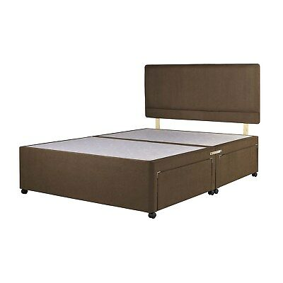 Chenille Divan Bed Base - Storage Drawers - Headboard - 4Ft6 5Ft 6Ft - Colours
