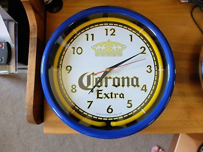 CORONA NEON CLOCK battery operated