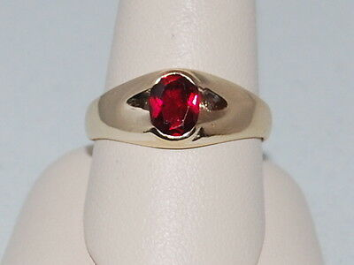10k Gold ring with Ruby(July Birthstone)