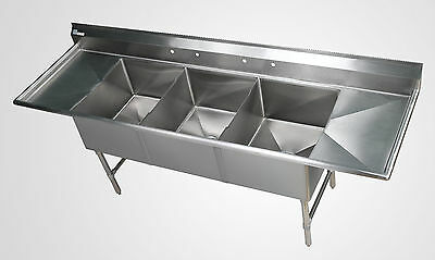 3 Bowl Stainless Steel Sheet Pan Sink