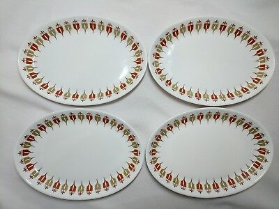 Syralite by Syracuse Captain's Table Pattern Small Oval Platter, Set of 4