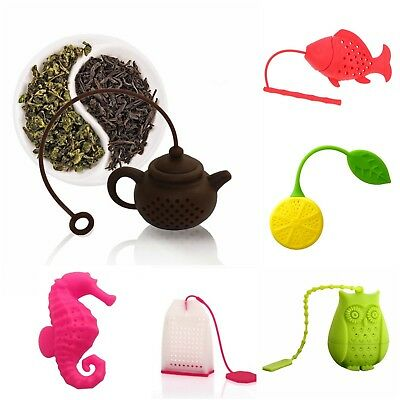 SPIRIUS Silicone Tea infuser loose Tea Leaf Leaves Herbal Strainer many designs