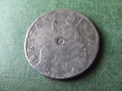 William & Mary.  1691, Halfpenny. Tin Issue.  Very Rare.  Nice Condition.