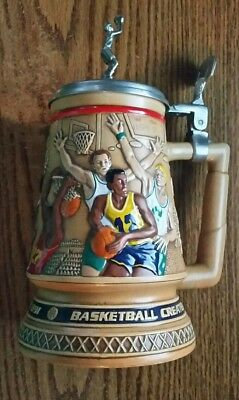 1993 Avon Lidded Beer Stein A Century of Basketball