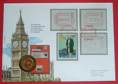 Great Britain 1/2 Penny 1982, Cover-Stamp-Unc Condition