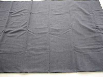 "NOS Vintage Wool , Poly Light Weight Fabric Slate Blue - 58 X 84"" - Original Tag"