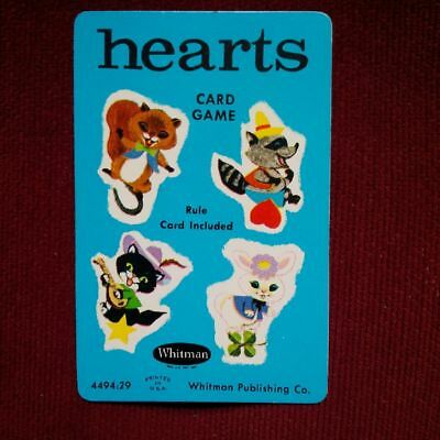 Vintage 1960s Hearts Whitman Card Game