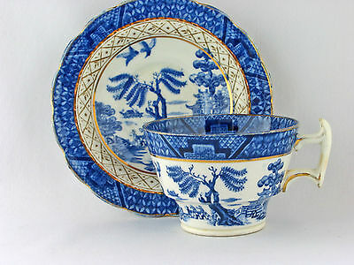 Vintage Real Old Willow Booths vintage Cup and Saucer England   21