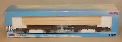 Marklin Hungary 1 Gauge Train Maxi Load Cradle Wood Lumber Car 54804 New in Box