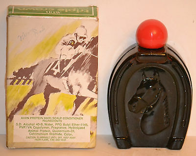 Vintage AVON TRIPLE CROWN Protein Hair/Scalp Conditioner Collectible Bottle FULL