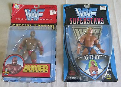 Ahmed Johnson ~ Sycho Sid ~ action figures