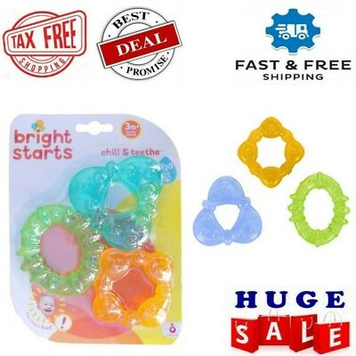 Baby Chill and Teeth Water Filled Teething Rings BPA Free for Age 3 Months+ TAX0