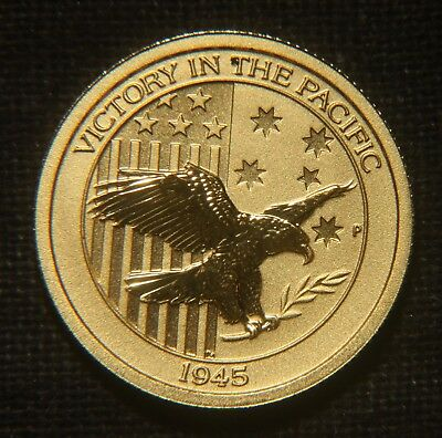 """2016 $15 Australia """"victory In The Pacific"""" Gold Coin  Agw=0.100 Lot 250938"""